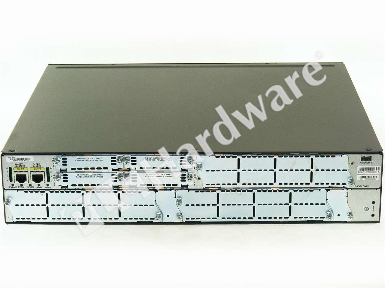 Cisco 2800 Series Hardware Installation - Overview of Cisco 2800 ...