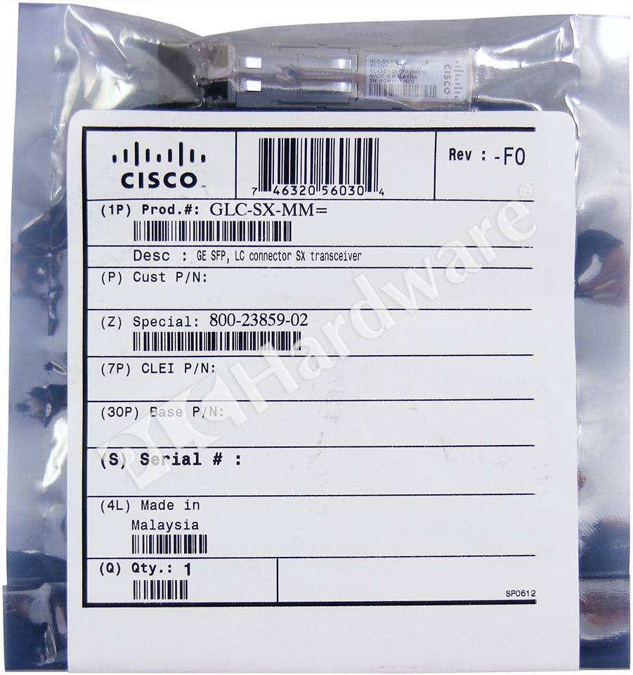 Plc Hardware Cisco Glc Sx Mm New Factory Sealed