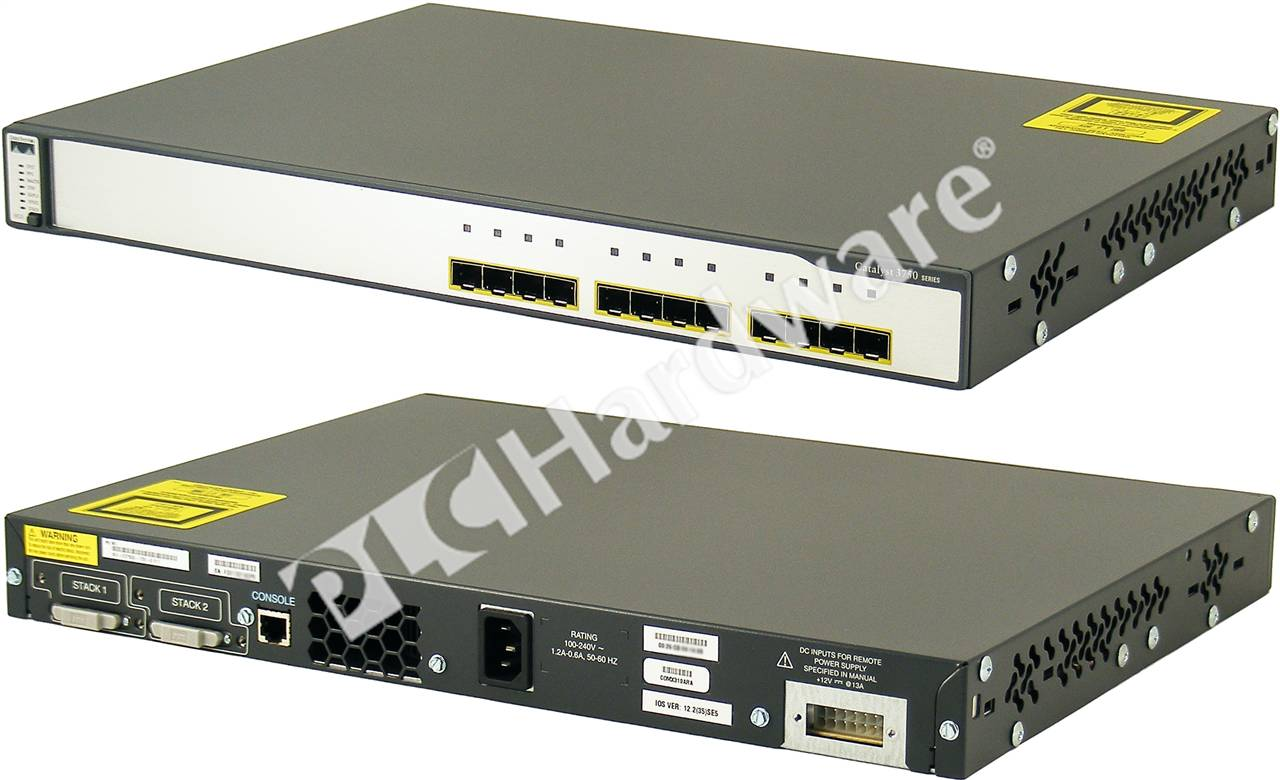 PLC Hardware: Cisco WS-C3750G-12S-S Catalyst 3750 12 SFP