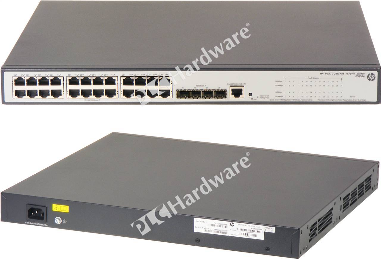 Plc Hardware Hp Procurve Je008a Switch 1910 24g Poe 170w