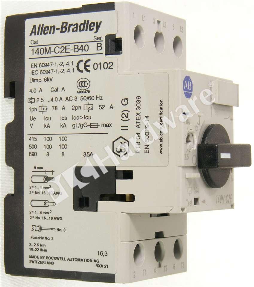 Plc Hardware Allen Bradley 140m C2e B40 Motor Protection