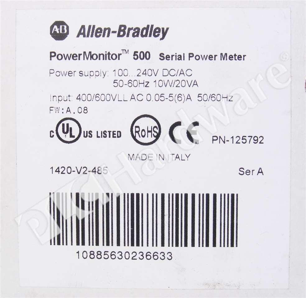 new allen bradley 1420 a powermonitor 500 unit