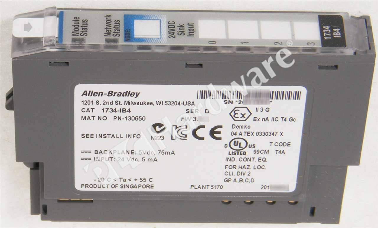 1734 Ib4 Installation Manual One Word Quickstart Guide Book Ow4 Wiring Diagram Plc Hardware Allen Bradley Series D Used In A Plch Packaging Rh Plchardware Com