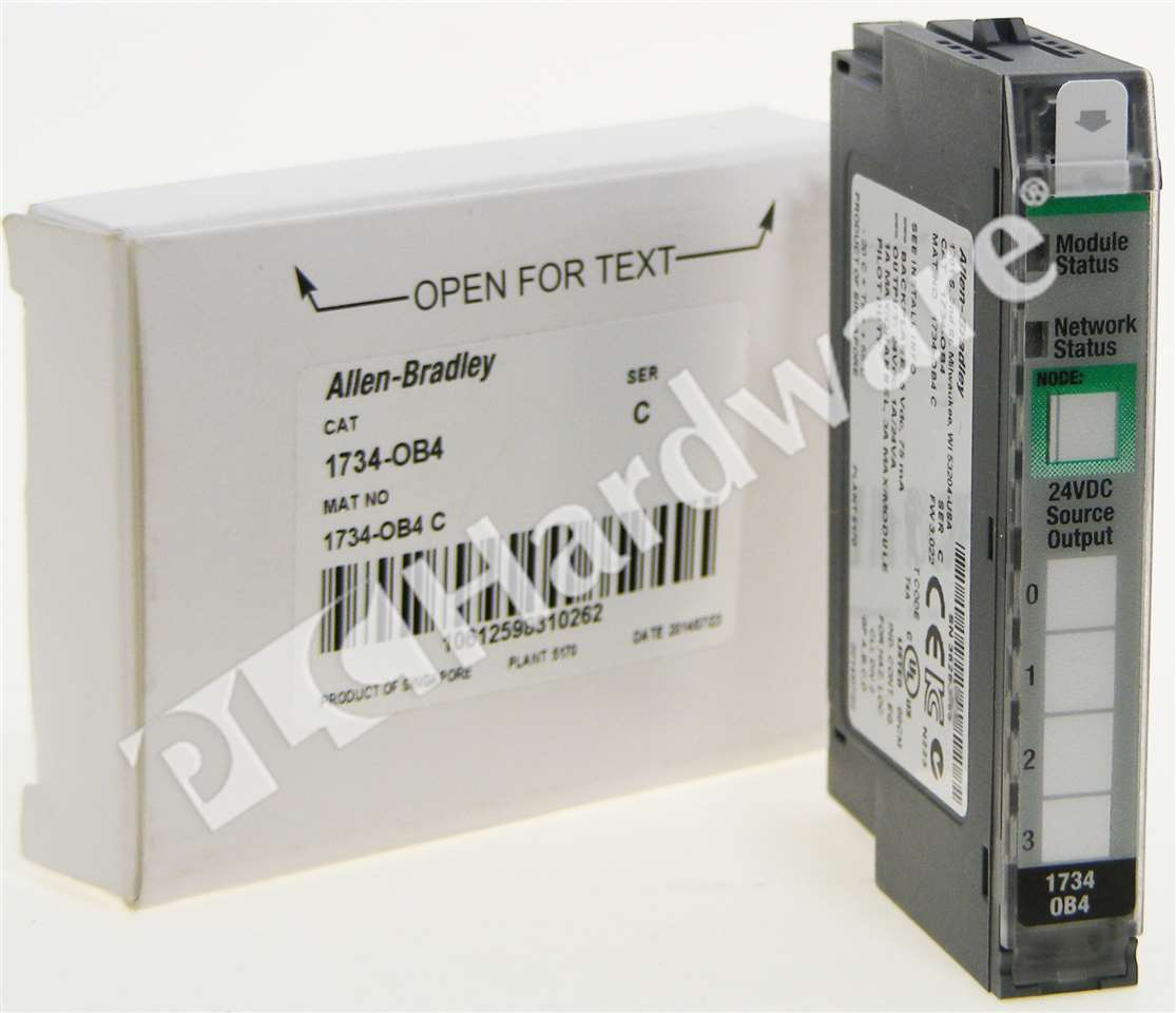 Details about New Allen-Bradley 1734-OB4 /C 1734-0B4 POINT I/O Digital  Output Module 4-P 24VDC