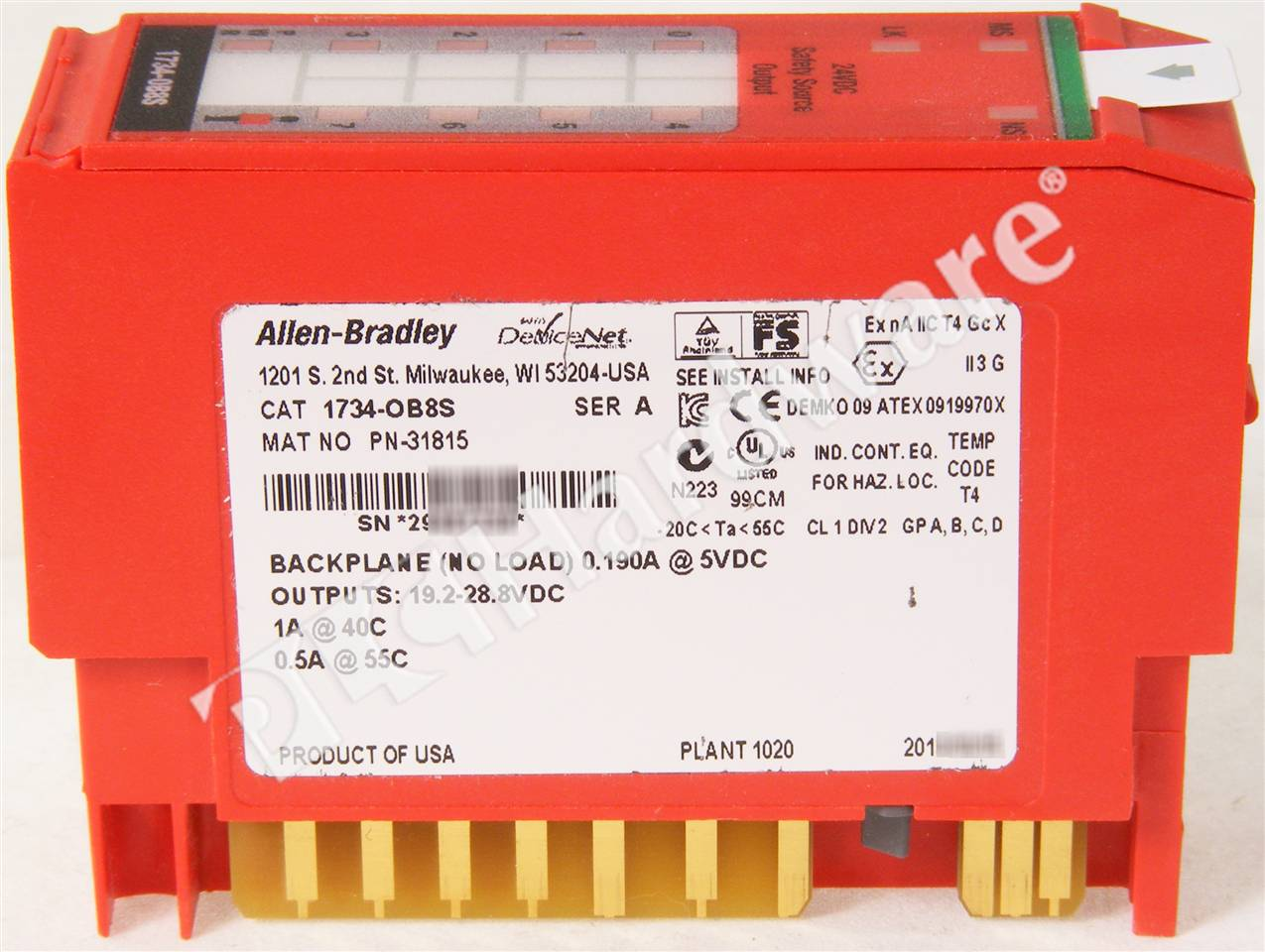 RA 1734 OB8S A NSO 5_b plc hardware allen bradley 1734 ob8s series a, new surplus open 1734 ib8s wiring diagram at crackthecode.co