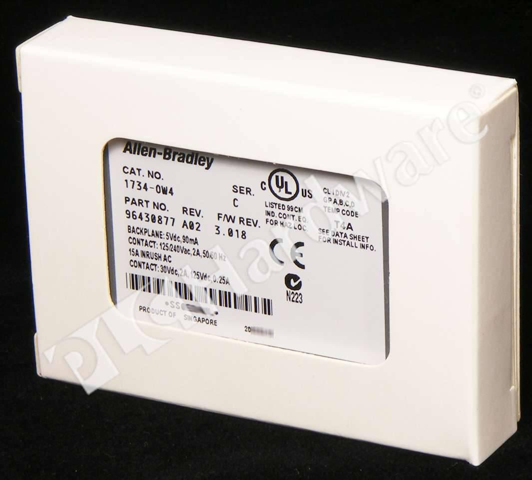 Plc Hardware Allen Bradley 1734 Ow4 Series C New Surplus Open Wiring Diagram 1