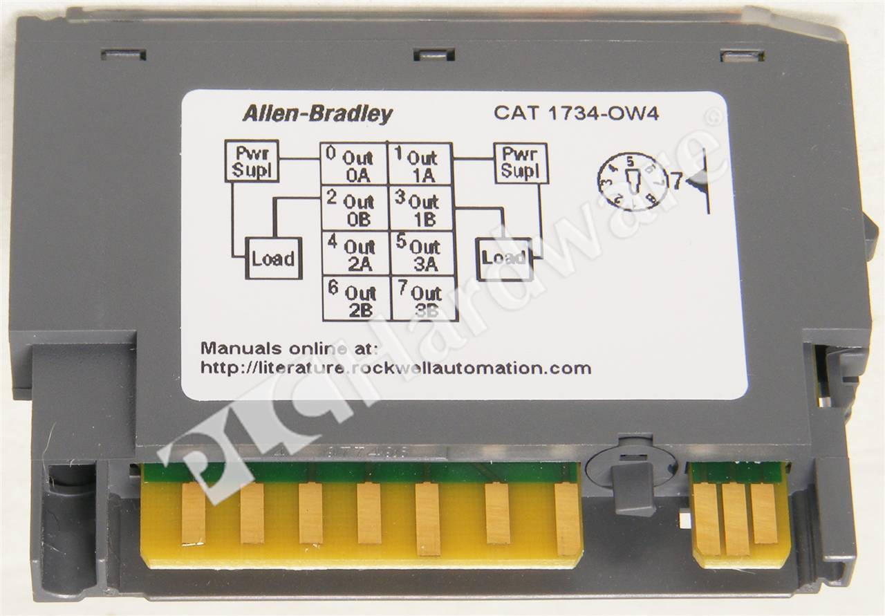 125v wiring diagram plc hardware allen bradley 1734 ow4 point digital contact