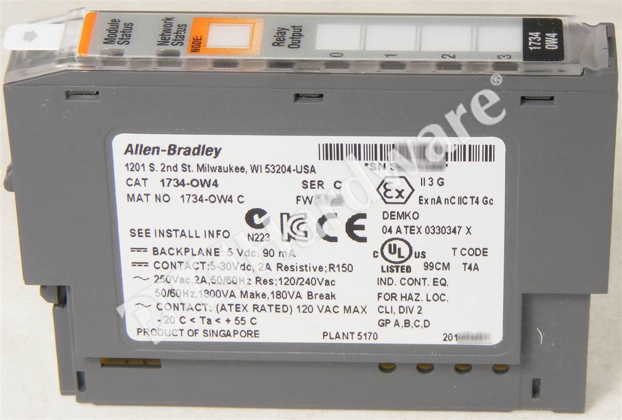 RA 1734 OW4 C UPP 4_b plc hardware allen bradley 1734 ow4 series c, new surplus sealed 1734 ow4 wiring diagram at eliteediting.co