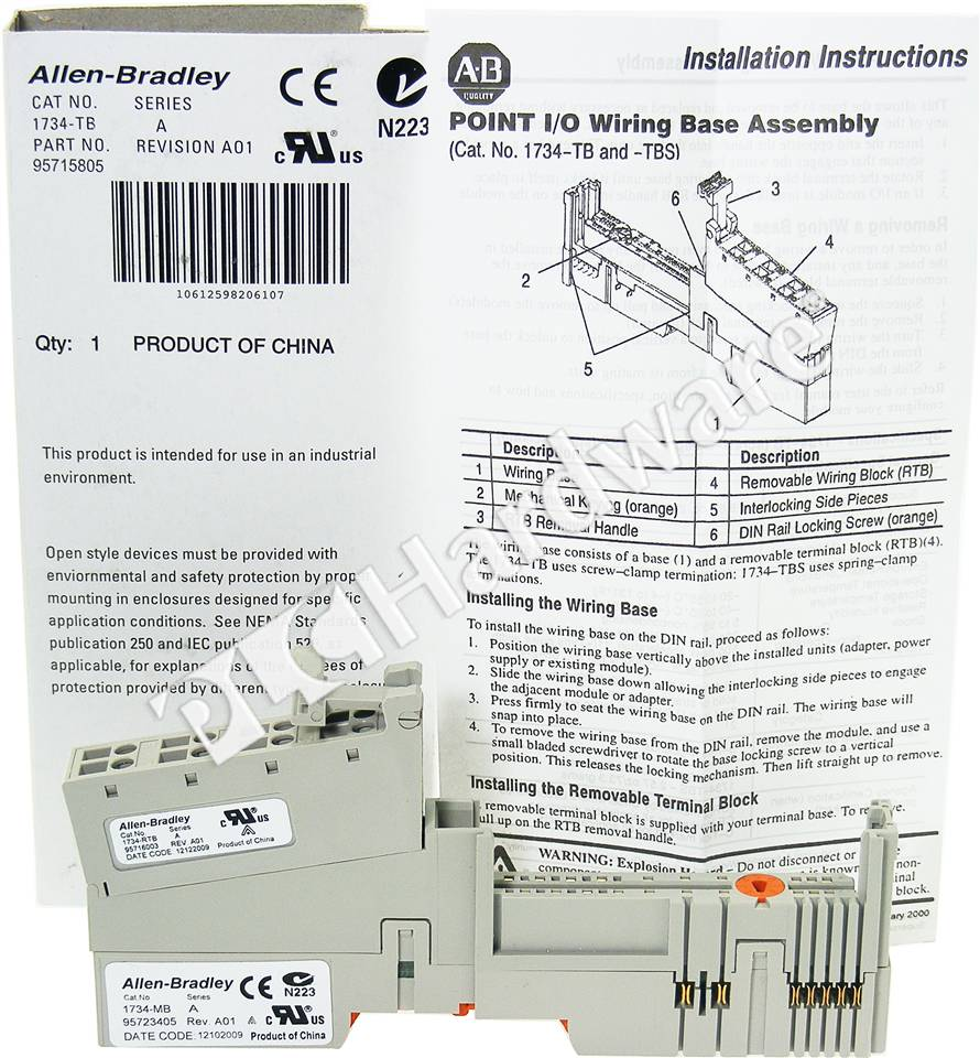 RA 1734 TB 1_b plc hardware allen bradley 1734 tb point i o module base with 8 1734 ow4 wiring diagram at gsmx.co