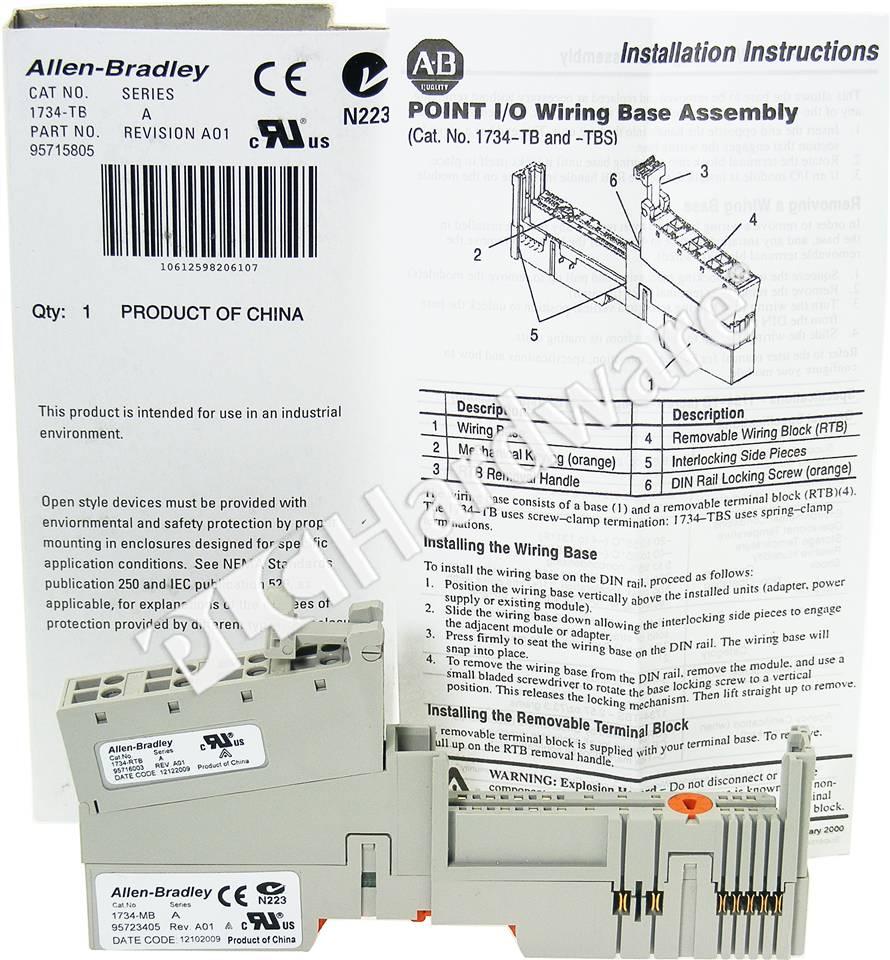 RA 1734 TB 1_b plc hardware allen bradley 1734 tb point i o module base with 8 1734 ow4 wiring diagram at eliteediting.co