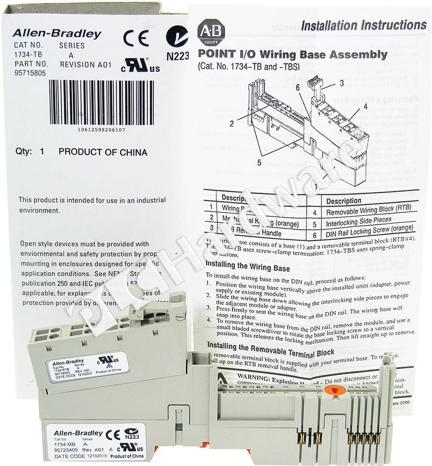 RA 1734 TB A NSS_b plc hardware allen bradley 1734 tb series a, new surplus sealed 1734 oe4c wiring diagram at edmiracle.co