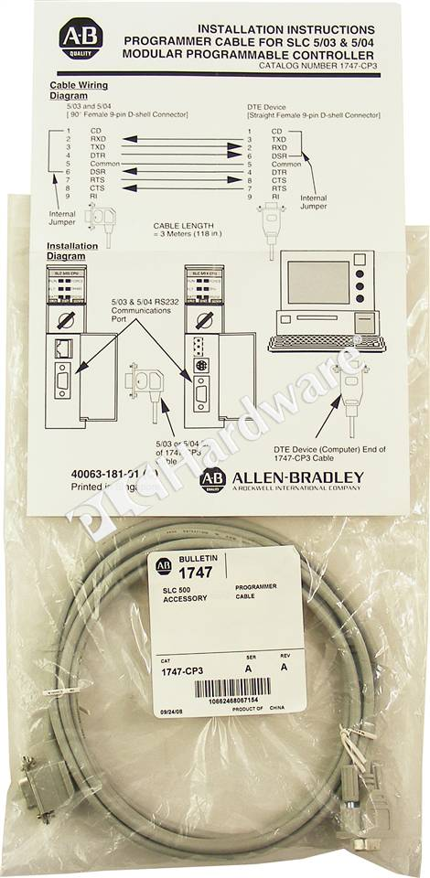 RA 1747 CP3 A NFS_b plc hardware allen bradley 1747 cp3 series a, new factory sealed 1747 c13 wiring diagram at edmiracle.co