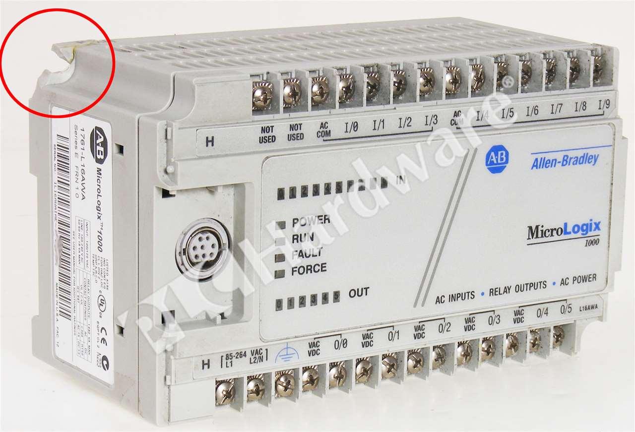 Allen Bradley 1761-L16AWA /E MicroLogix 1000 Controller No Covers ...