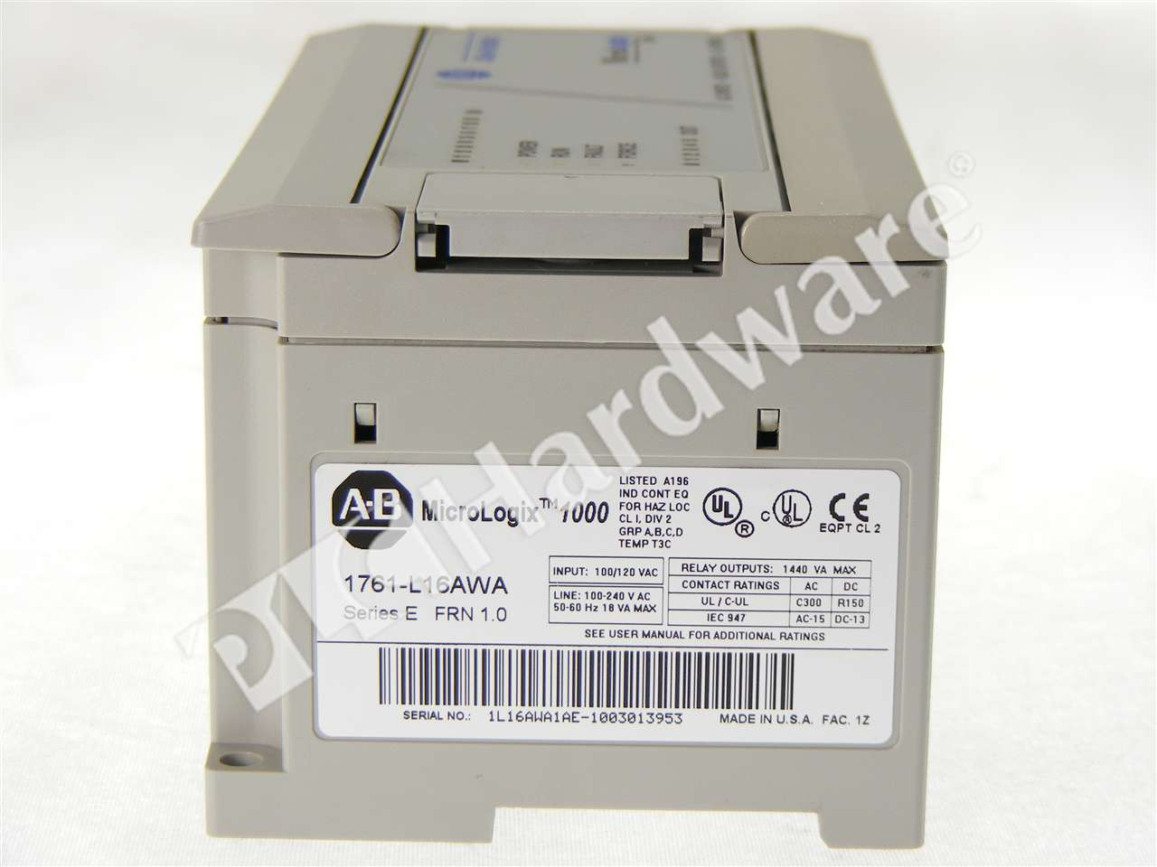 PLC Hardware: Allen-Bradley 1761-L16AWA MicroLogix 1000 Controller ...