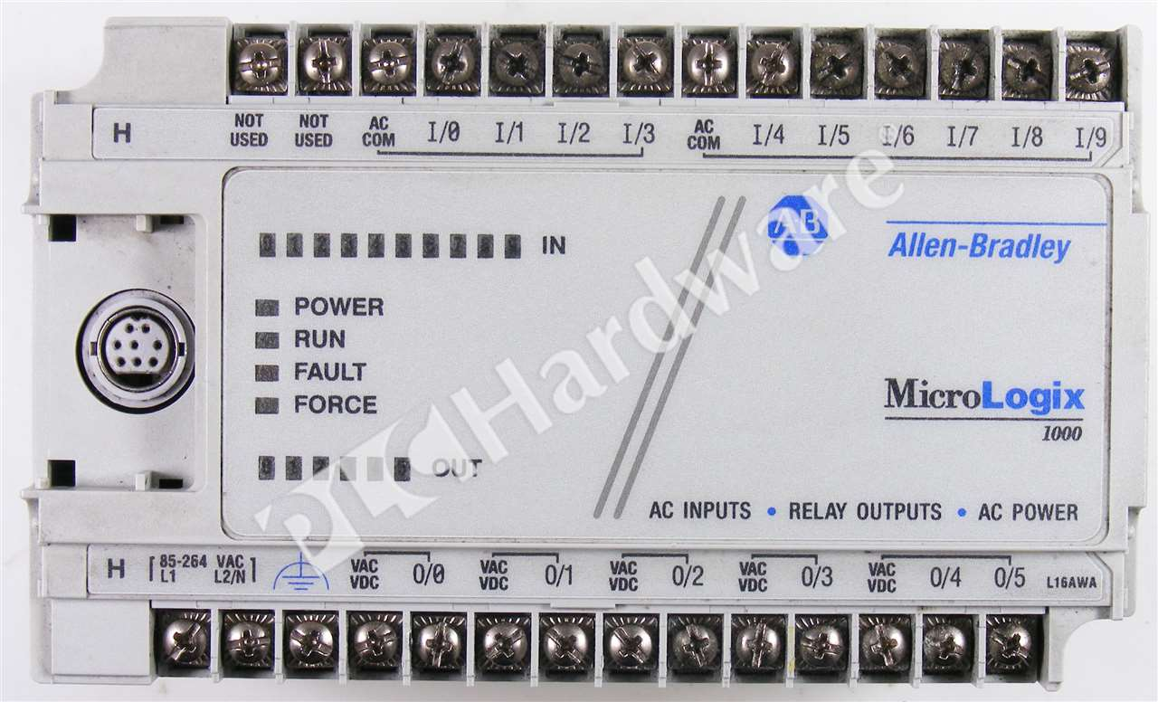 Details about Allen Bradley 1761-L16AWA /E MicroLogix 1000 Controller No Covers & Mounts