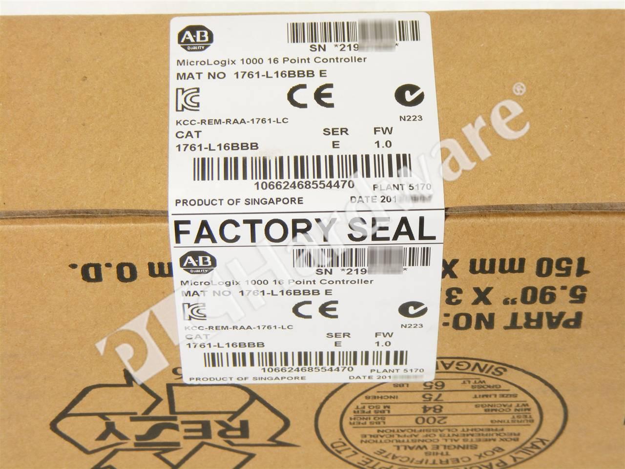 PLC Hardware: Allen-Bradley 1761-L16BBB MicroLogix 1000 Controller ...