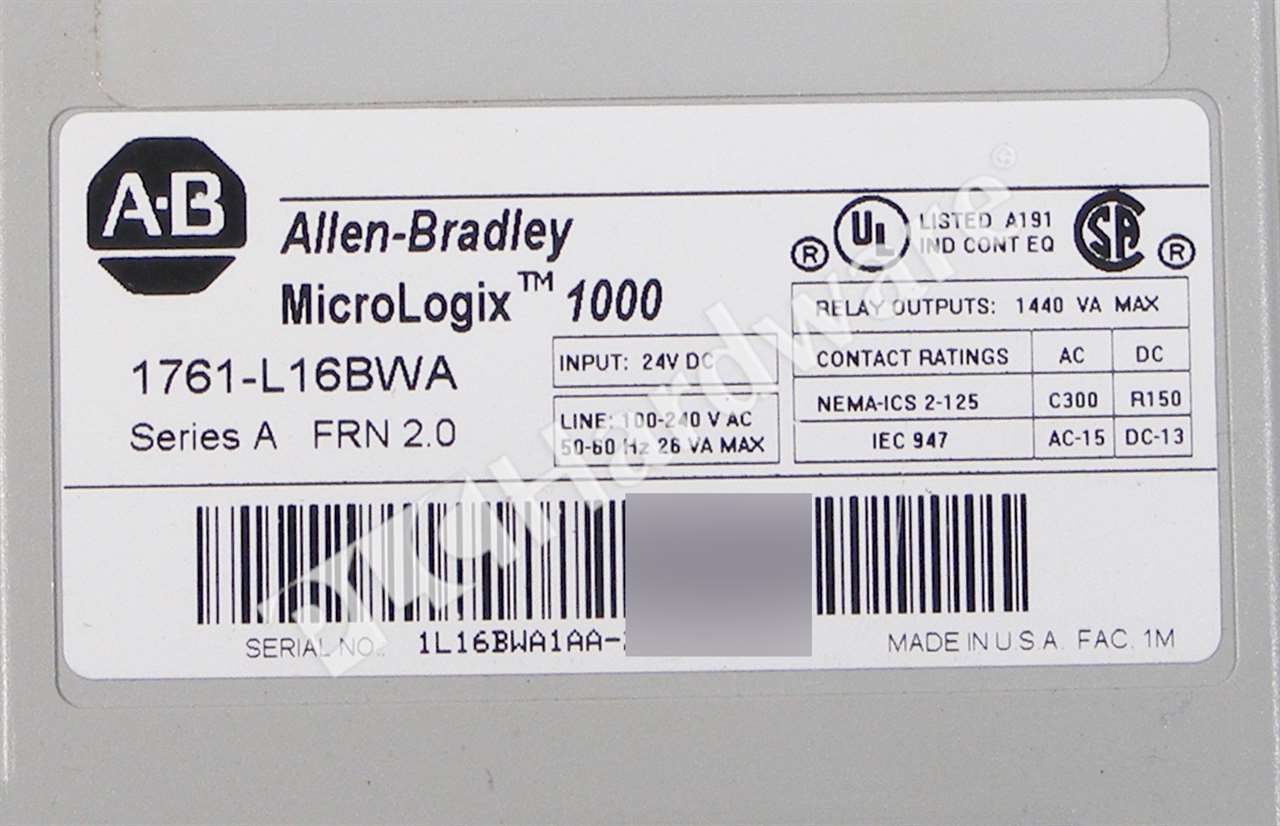 Old Fashioned Allen Bradley Micrologix 1000 Crest - Electrical and ...