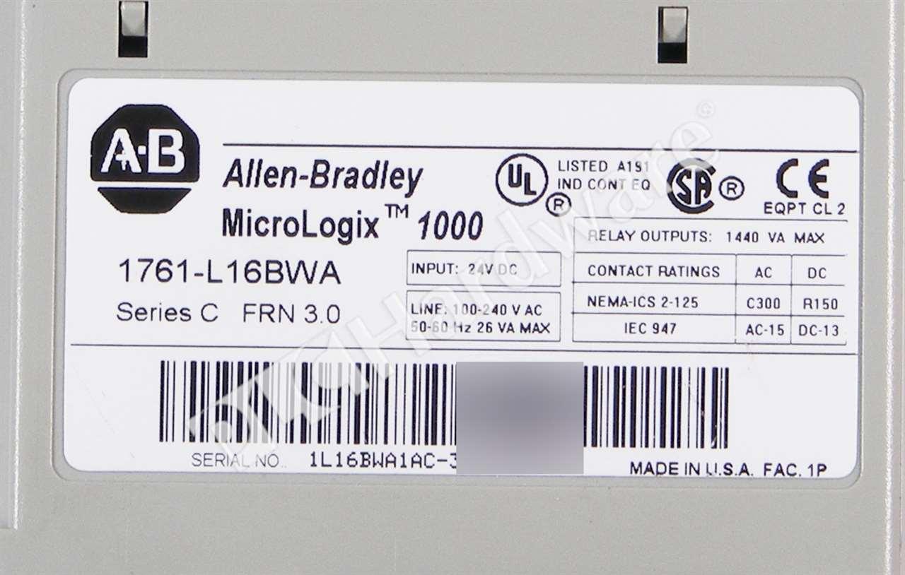 Allen Bradley 1761-L16BWA /C MicroLogix 1000 120/240VAC 10-In 6-Out ...