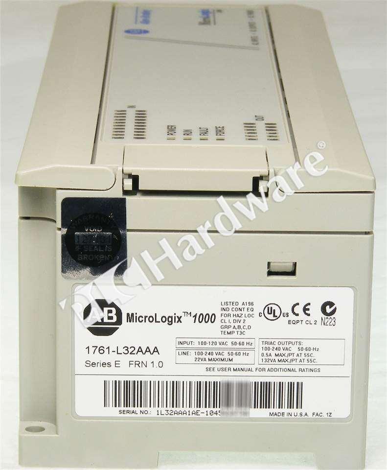 Allen Bradley 1761-L32AAA /E MicroLogix 1000 120/240VAC 20 120VAC ...