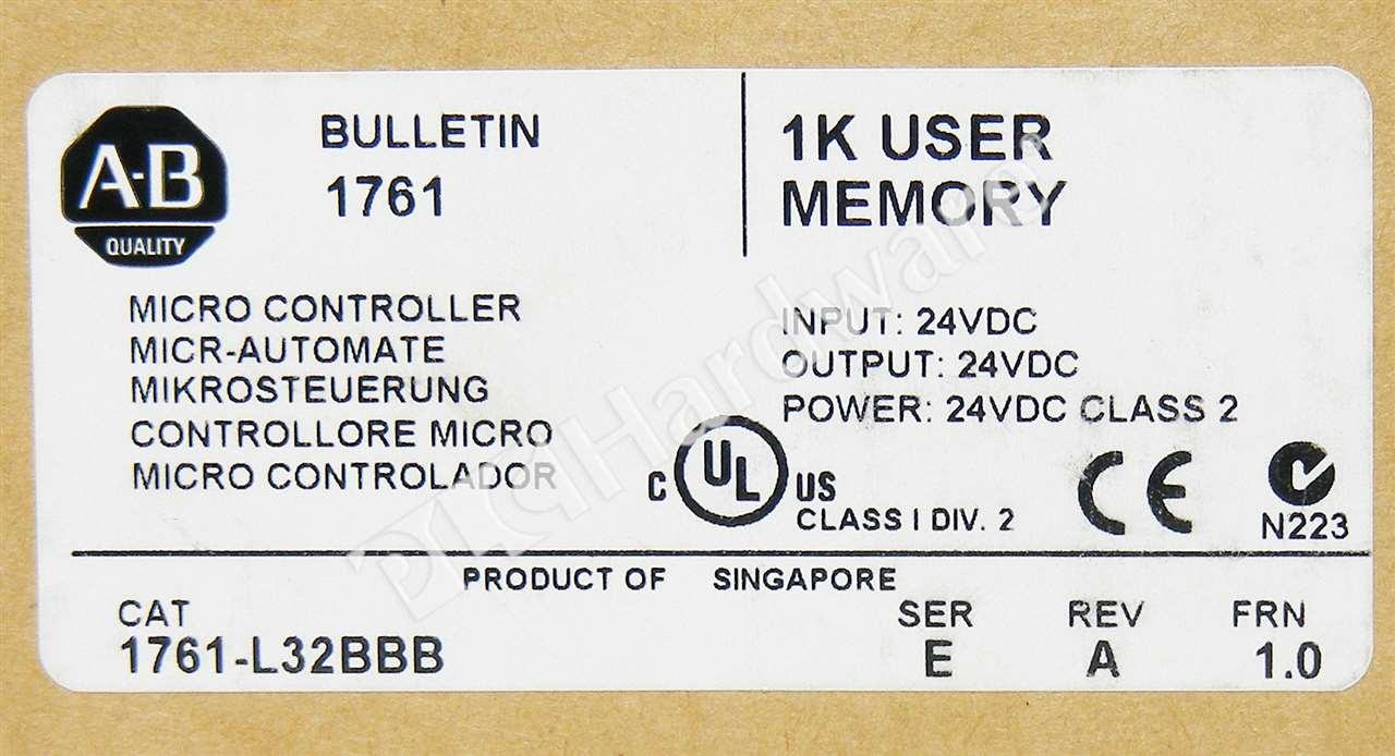 PLC Hardware - Allen Bradley 1761-L32BBB Series E, New Surplus Open