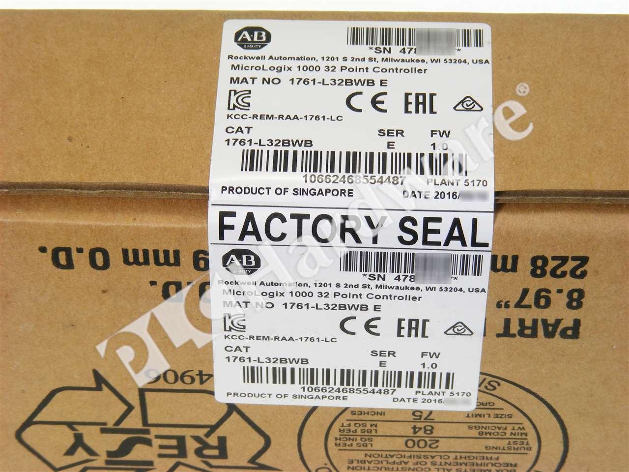 New Sealed Allen Bradley 1761-L32BWB /E 2016 MicroLogix 1000 24V DC ...