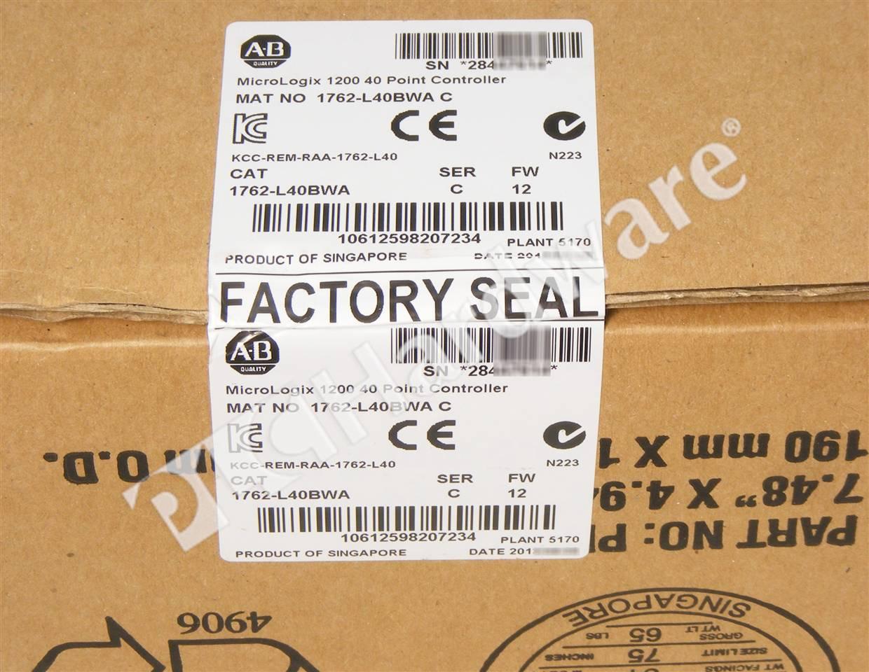 Plc Hardware Allen Bradley 1762 L40bwa Series C New