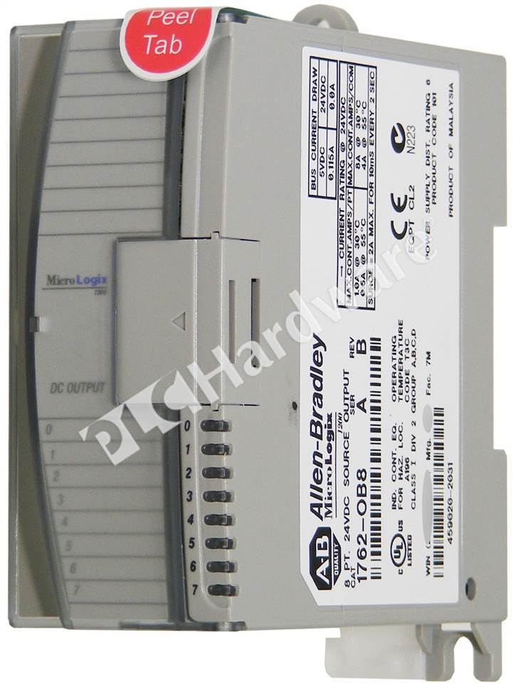 RA 1762 OB8_b plc hardware allen bradley 1762 ob8 micrologix 8 point digital 1762 if4 wiring diagram at virtualis.co