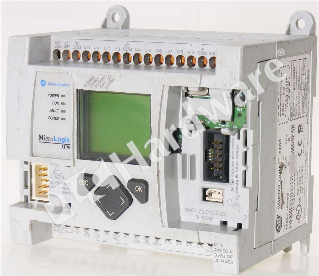 Allen Bradley 1763-L16BBB /B MicroLogix 1100 Controller FRN 8 No ...