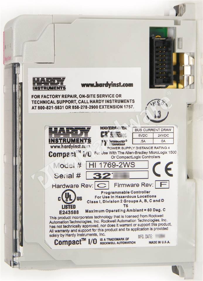 plc hardware hardy instruments 1769 2ws weigh scale module 2 channels. Black Bedroom Furniture Sets. Home Design Ideas