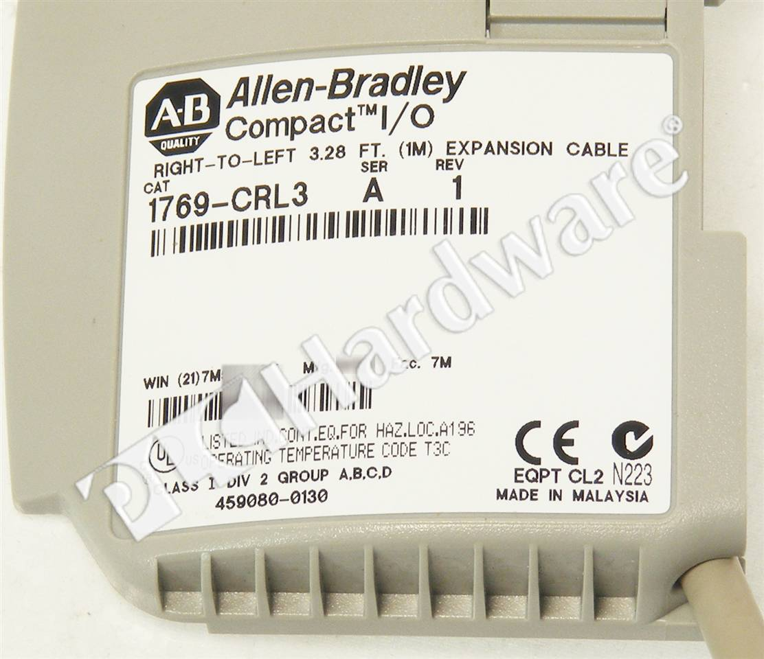RA 1769 CRL3 A NSO 3_b plc hardware allen bradley 1769 crl3 series a, new surplus sealed 1769 iq16 wiring diagram at bakdesigns.co