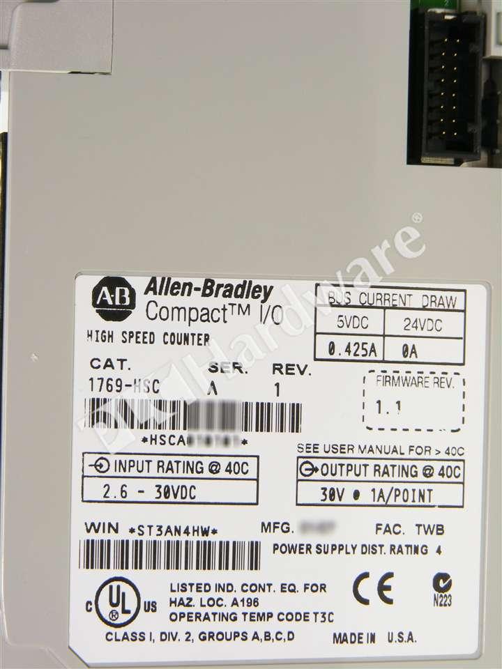 plc hardware allen bradley 1769 hsc series a new surplus open rh plchardware com Operators Manual Instruction Manual Book