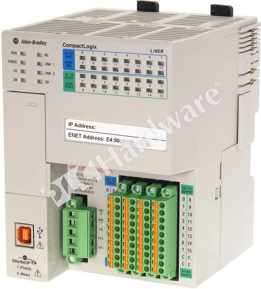 Plc Hardware Allen Bradley 1769 L16er Bb1b Series A Used In Plch Packaging