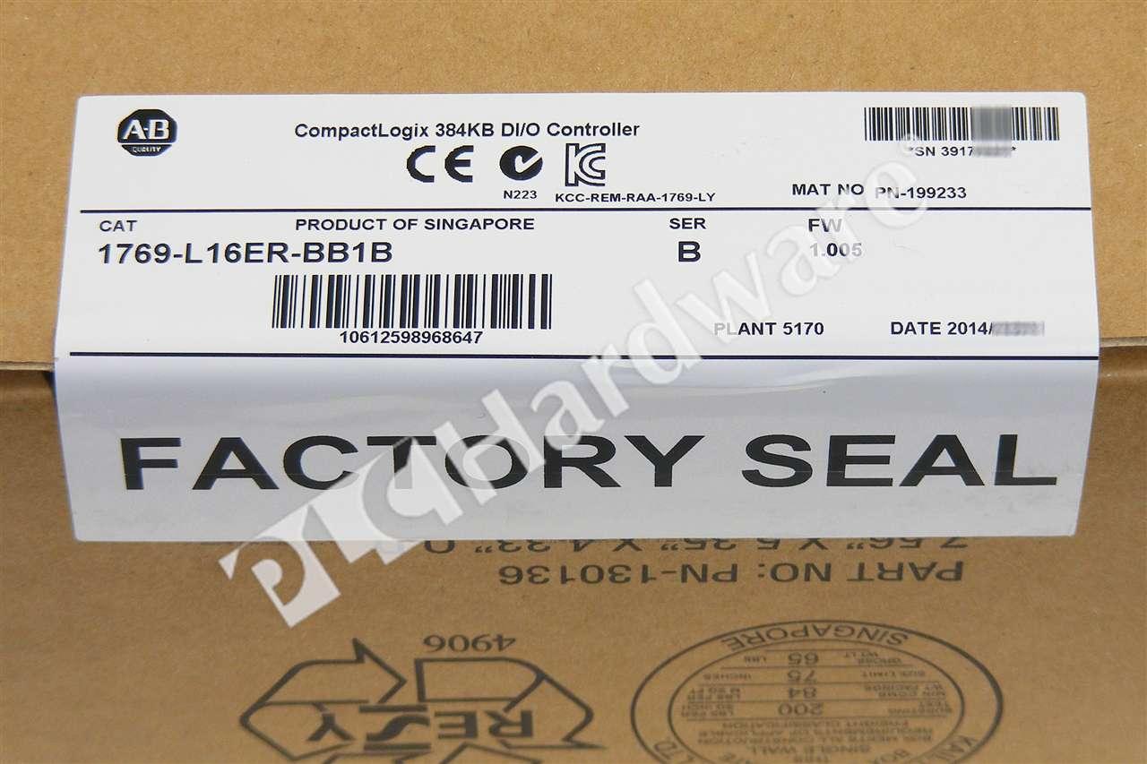 new sealed allen bradley 1769 l16er bb1b b pkg 2014 compactlogix processor qty. Black Bedroom Furniture Sets. Home Design Ideas