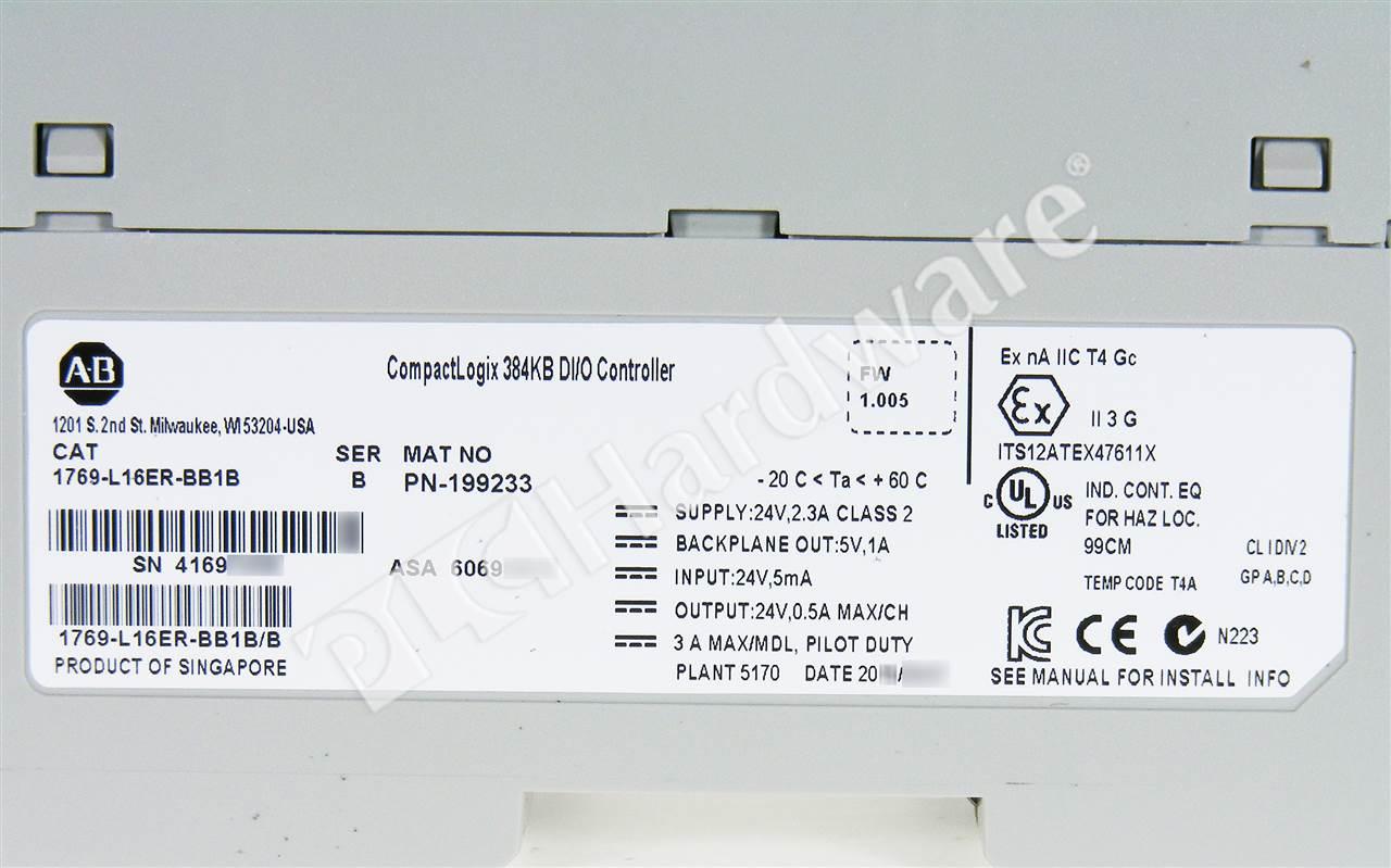 1769 L16er Bb1b Wiring Diagram Layout Diagrams Kenne Bell Boost A Pump Allen Bradley Series B New Factory Rh Plchardware Com Installation Manual