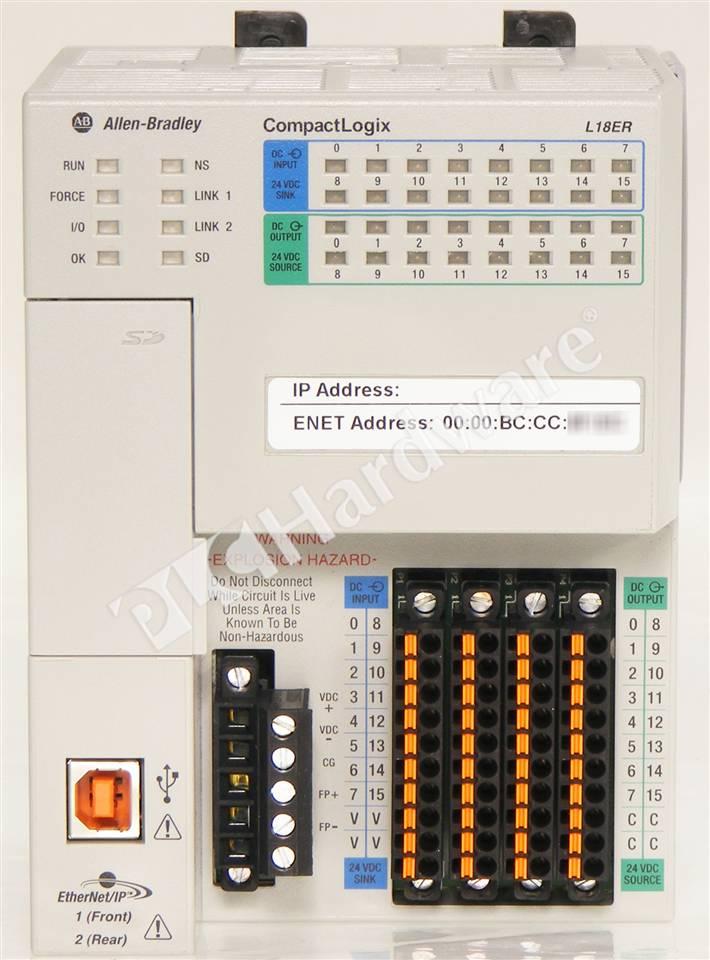 Plc Hardware Allen Bradley 1769 L18er Bb1b Series A New Surplus Open