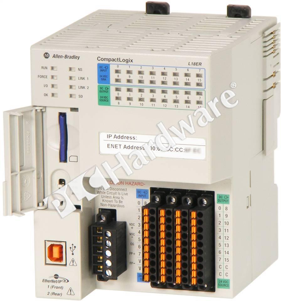 Plc Hardware Allen Bradley 1769 L18er Bb1b Compactlogix 5370 Controller 512kb