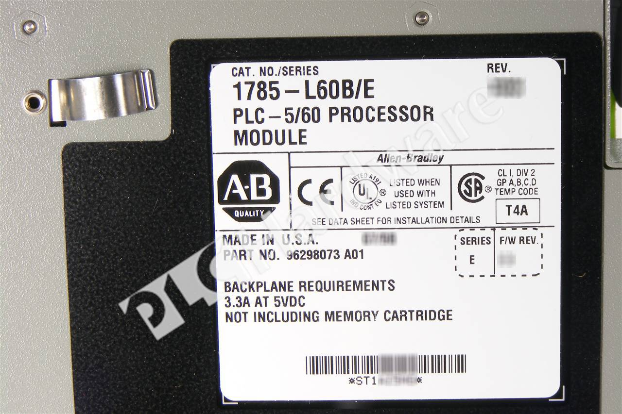 Plc hardware allen bradley 1785 l60b series e new for 60 1785