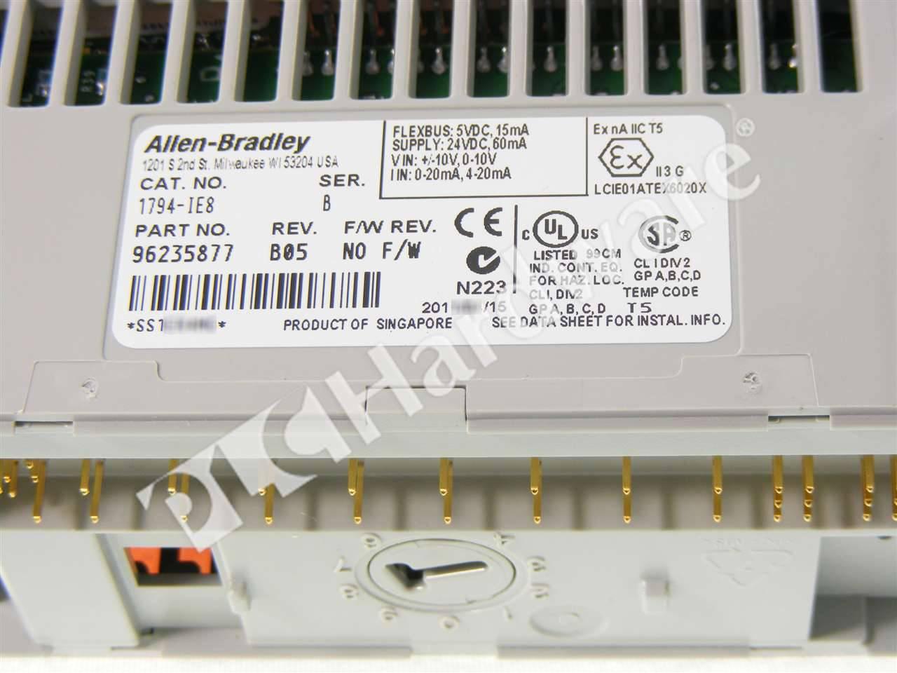 1794 Ie8b Wiring Free Vehicle Diagrams Ie8 Plc Hardware Allen Bradley Series B New Surplus Open Rh Plchardware Com Diagram