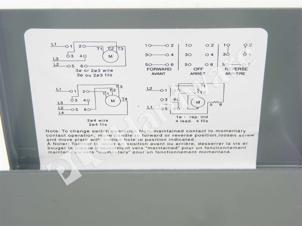 New Allen Bradley 350 Tav32 Series C Reversing Drum Switch 3 Wiring For Motor On Phase Forward Reverse Click To Zoom