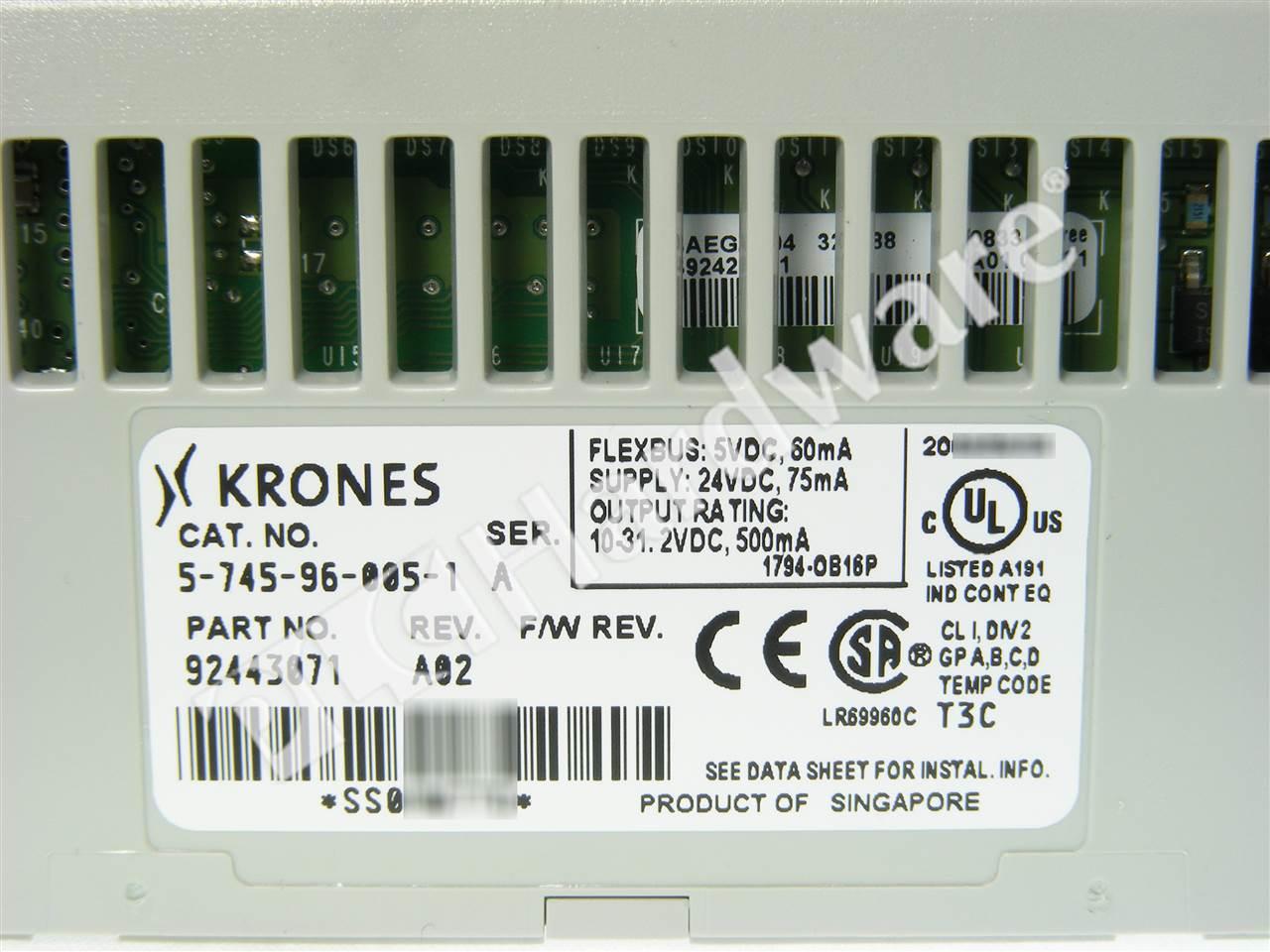 KRONES 5-745-96-005-1 SER A  OUTPUT MODULE
