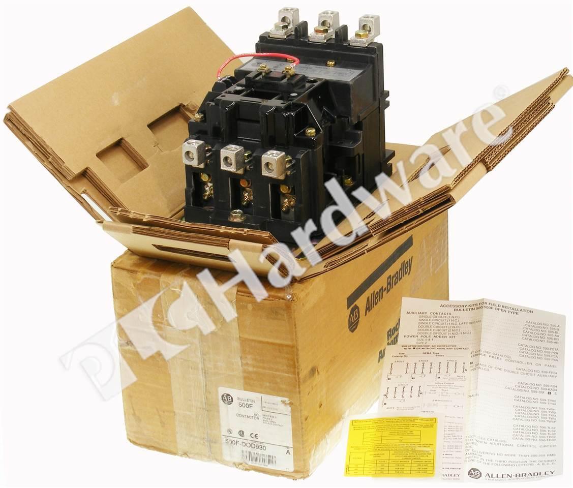 Plc Hardware Allen Bradley 500f Dod930 Nema Size 3 Contactor Bulletin Feedthrough Wiring Contactors For Motor Loads 7