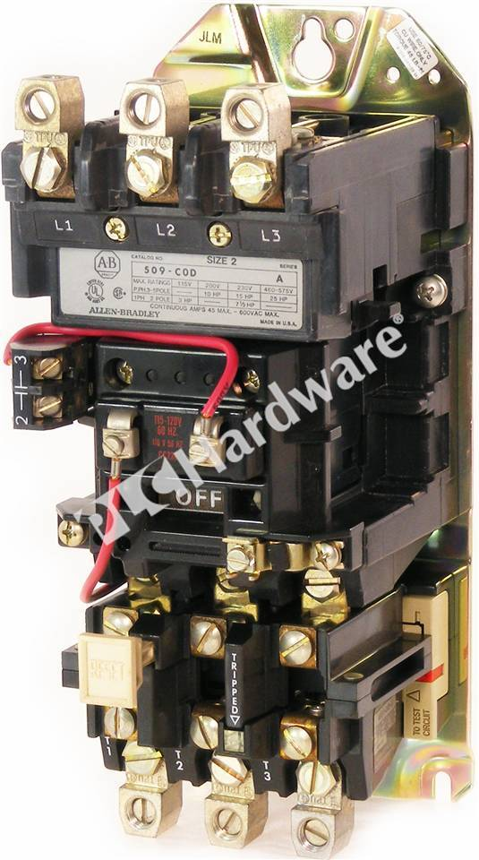 Plc Hardware Allen Bradley 509 Cod Used In A Plch Packaging