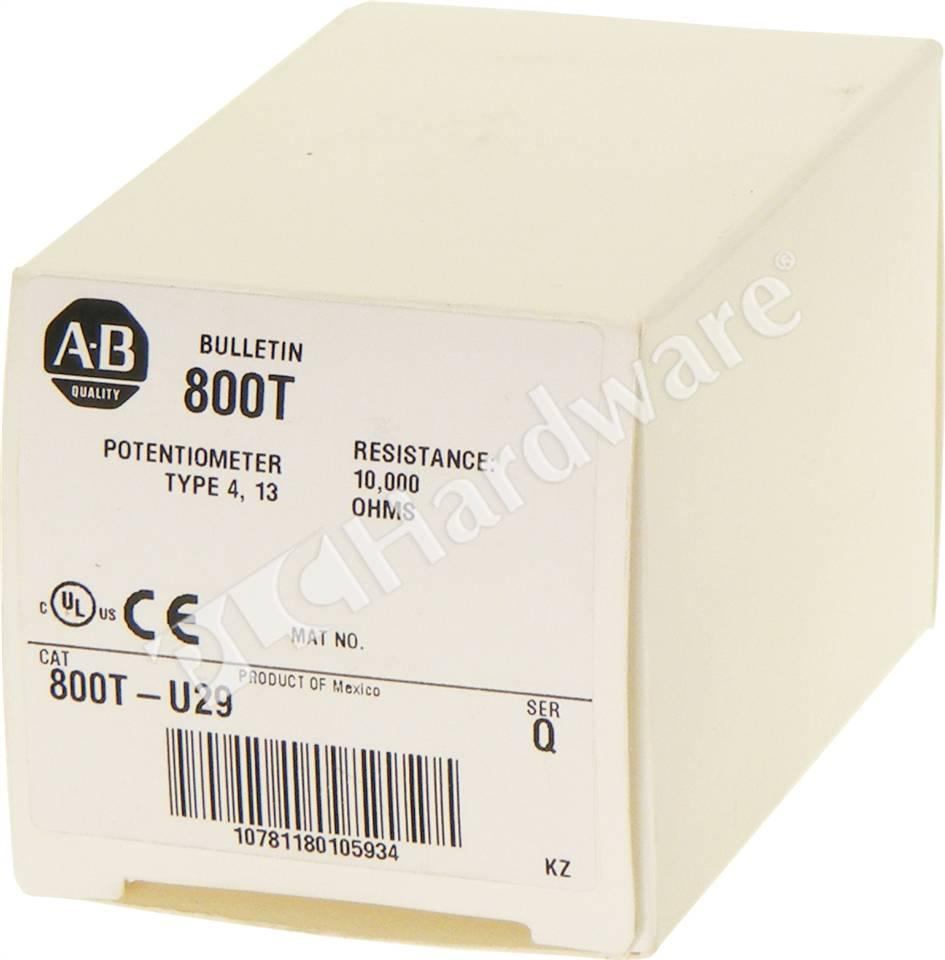 Kilo Ohms To Ohms >> PLC Hardware - Allen Bradley 800T-U29, New Surplus Sealed