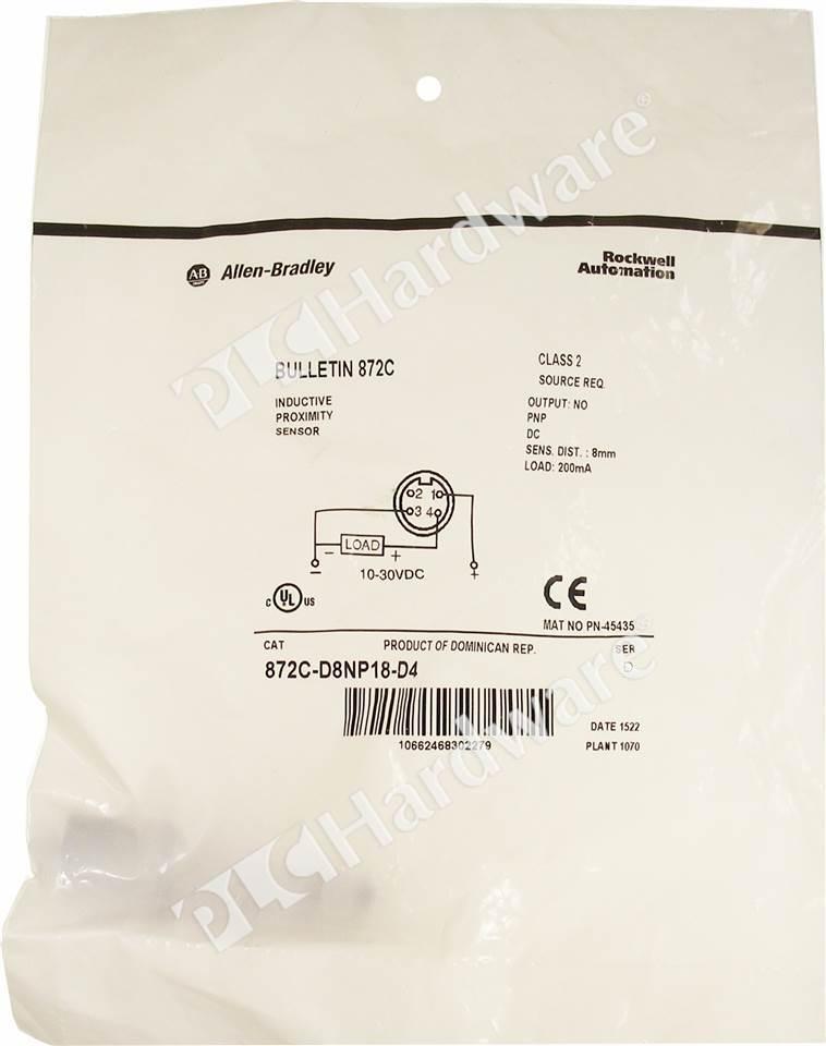 872C-D8NP18-D4/D Ab T Inductive Proximity Sensor Wiring Diagram on