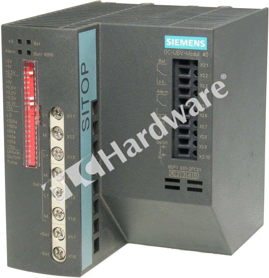 Plc Hardware Siemens 6ep1931 2fc21 Used In A Plch Packaging