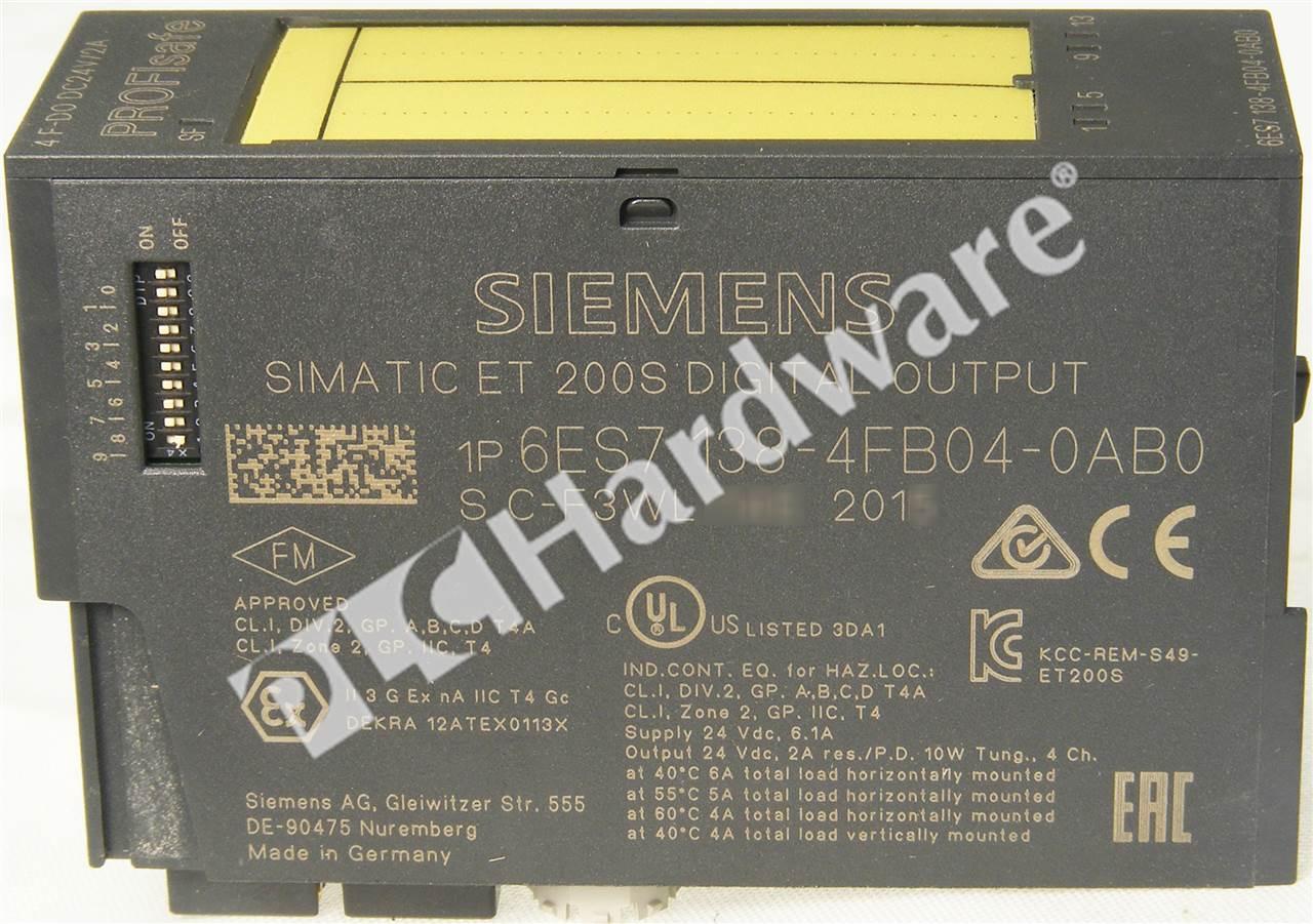Siemens Simatic S7 6ES7138-4FB04-0AB0  Output Used