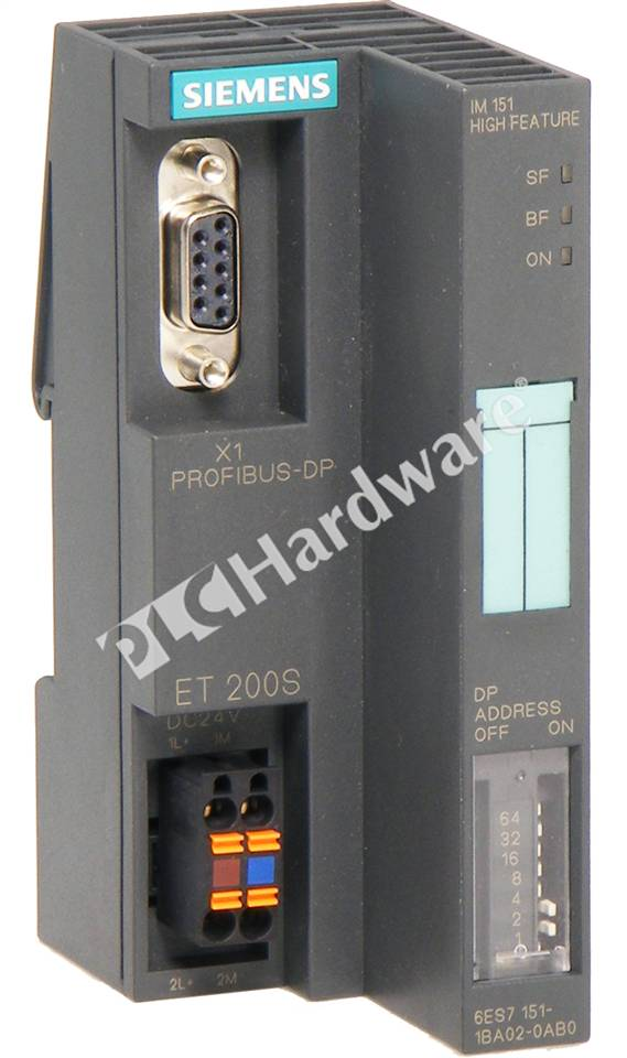 Siemens ET200S 6ES7 151-1BA02-0AB0 Interface Module Profibus High Feature 24VDC