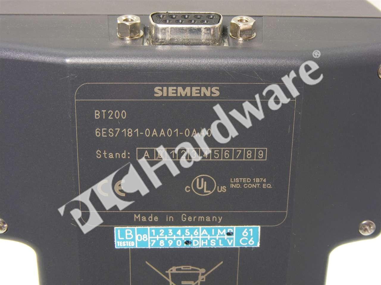 6ES7181 0AA01 0AA0 8 PLC Hardware Siemens 6ES7181 0AA01 0AA0