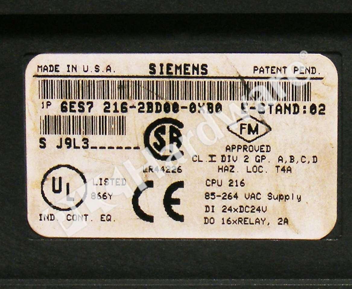 Details about Siemens 6ES7216-2BD00-0XB0 6ES7 216-2BD00-0XB0 SIMATIC S7-200  CPU No Covers