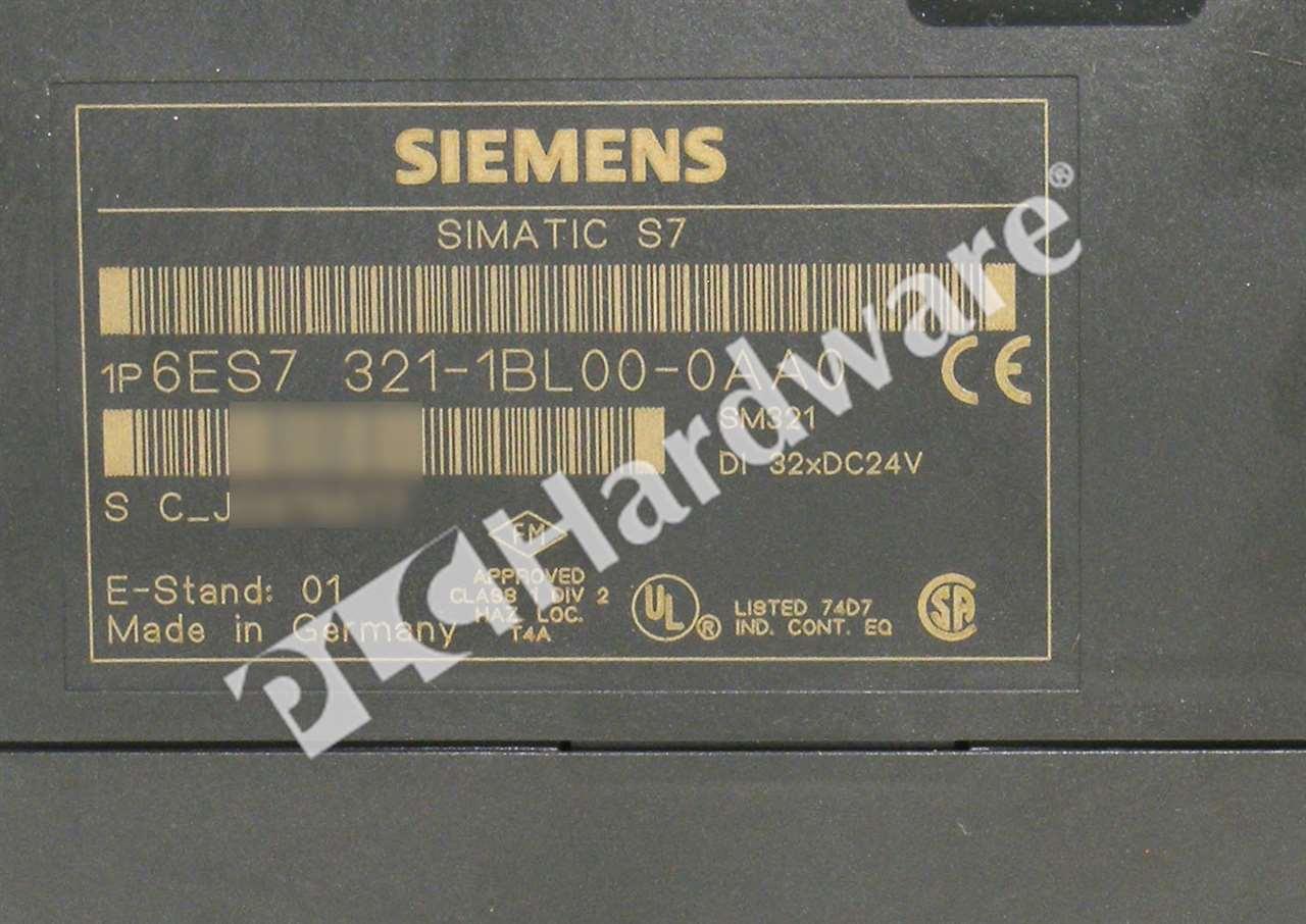 di 32xdc24v//e-Stand 01 — used Siemens Simatic s7 6es7 321-1bl00-0aa0 sm21